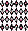 Vector clipart: Seamless pattern with skulls