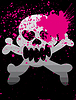 Vector clipart: skull on grunge background