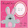 Vector clipart: Baby postcard with  rabbit