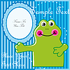 Vector clipart: Baby postcard with frog