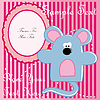Vector clipart: Baby postcard with mouse