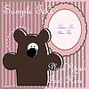 Vector clipart: Baby postcard with bear
