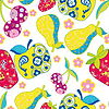 Vector clipart: seamless pattern of fruits