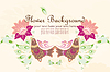 Vector clipart: Flower background with bird