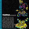 Vector clipart: Retro grunge background with bird