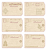 Vector clipart: Vintage postcard designs and postage stamps