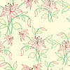 Vector clipart: Floral Seamless Background with Flowers