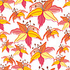 Vector clipart: Stylish beautiful bright floral seamless pattern
