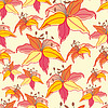 Vector clipart: Floral seamless background pattern