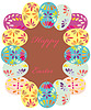Vector clipart: Background with frame of easter eggs