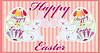 Два смешных пасхальных кролика и яйца