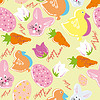 Vector clipart: Colorful easter seamless pattern background