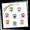 Vector clipart: Colorful monster on white ba
