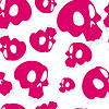 Vector clipart: Red skulls seamless