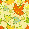 Seamless pattern of leaves  | Stock Vector Graphics