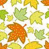 Vector clipart: seamless pattern of leaves