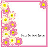 Vector clipart: Beautiful spring background with flowers
