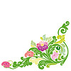 Vector clipart: Beautiful vintage floral element