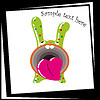 Vector clipart: Funny Green Bunny with big mouth