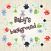 Vector clipart: Baby's background with animals