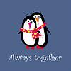A cartoon penguin  | Stock Vector Graphics