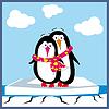 Vector clipart: a cartoon penguin