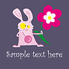 Vector clipart: Cheerful mousy and flower