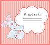 Vector clipart: Valentine Greeting Card With Rabbit