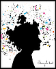 Vector clipart: Beautiful woman silhouette