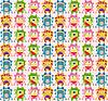 Vector clipart: Seamless monster pattern