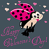 Vector clipart: Valentine Greeting Card With Ladybug
