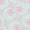 Vector clipart: Beautiful flowers in circle,