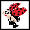 Vector clipart: Cute ladybug