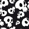 White skulls seamless