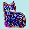 Vector clipart: Decorative beautiful cat
