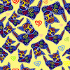 Vector clipart: Decorative beautiful cats background