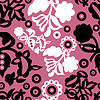 Vector clipart: Retro floral seamless - pattern