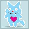 Vector clipart: Blue monster