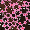 Vector clipart: Nice bears with berry seamless pattern