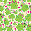 Vector clipart: Nice frog seamless background