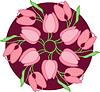 Vector clipart: Pink tulips. illustration