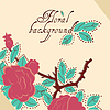 Stylish floral background with Roses | Stock Vector Graphics