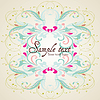 Vector clipart: Vintage card design for greeting card, invitation
