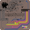 Vector clipart: Retro grunge background - vector