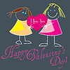 Vector clipart: Valentine Greeting Card With Cute Little Babies
