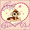 Valentine Greeting Card With Monkey | Stock Vector Graphics