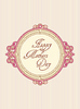 Vector clipart: mother's day greeting card