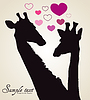 Vector clipart: Giraffe in love with