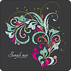 Vintage card design for greeting card, invitation | Stock Vector Graphics