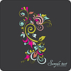 Vector clipart: Vintage card design for greeting card